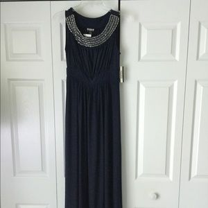 NWT Ankle length navy blue HAANI dress